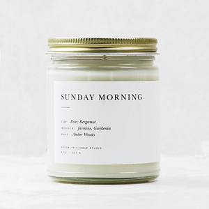 Minimalist Glass Candle | Sunday Morning - Coco and Duckie