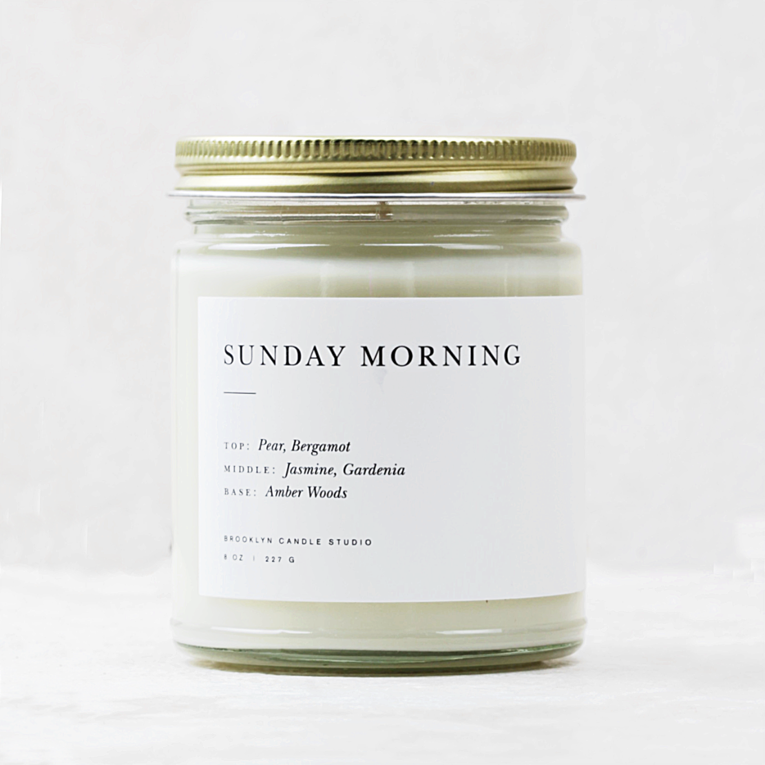 Minimalist Glass Candle | Sunday Morning