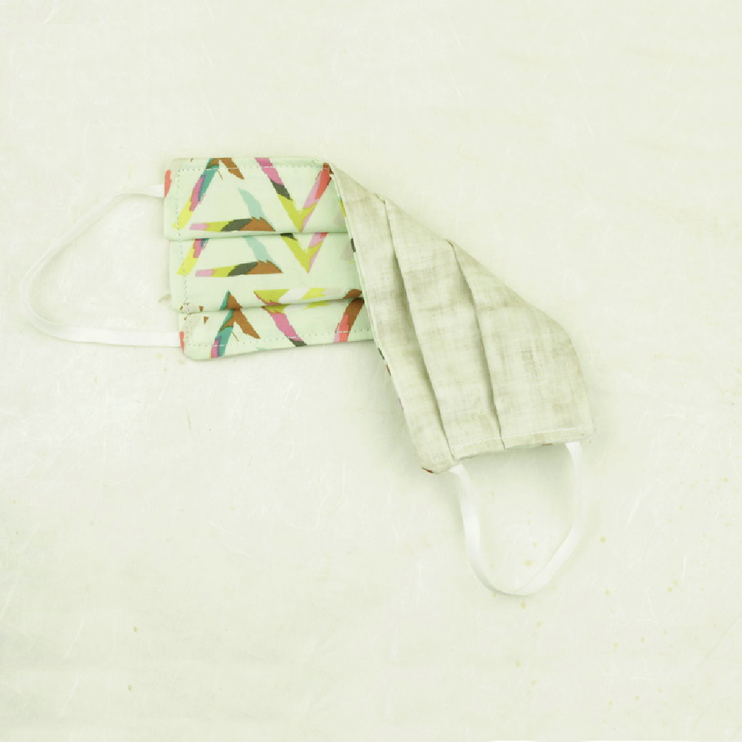 "Cotton Face Mask | ""Mint Prism"""