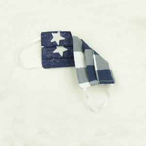 Cotton Face Mask | Blue Stars - Coco and Duckie