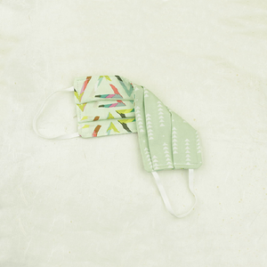 "Cotton Face Mask | ""Mint Prism"" - Coco and Duckie"