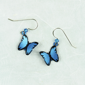 Blue Morpho Butterfly Earrings - Coco and Duckie