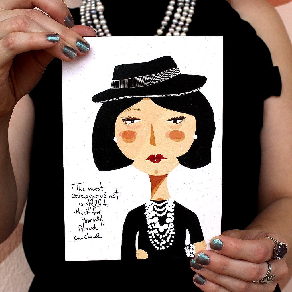 Illustration Card | Coco Chanel - Coco and Duckie