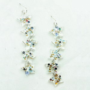 Anna 5 Star Vintage Rhinestone Earrings - Coco and Duckie