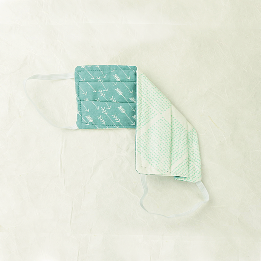 "Cotton Face Mask | ""Teal Arrow"""