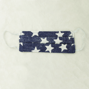 Cotton Face Mask | Blue Stars