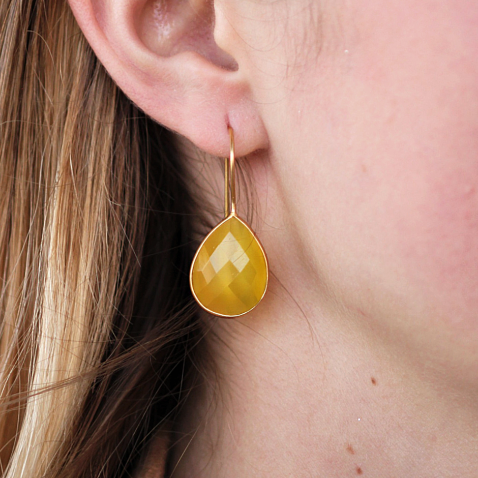 Miriam Yellow Onyx Earrings - Coco and Duckie