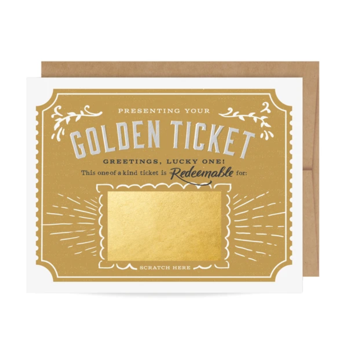 Scratch-Off Card | Golden Ticket - Coco and Duckie
