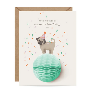 Pop-Up Card | Birthday Pug - Coco and Duckie