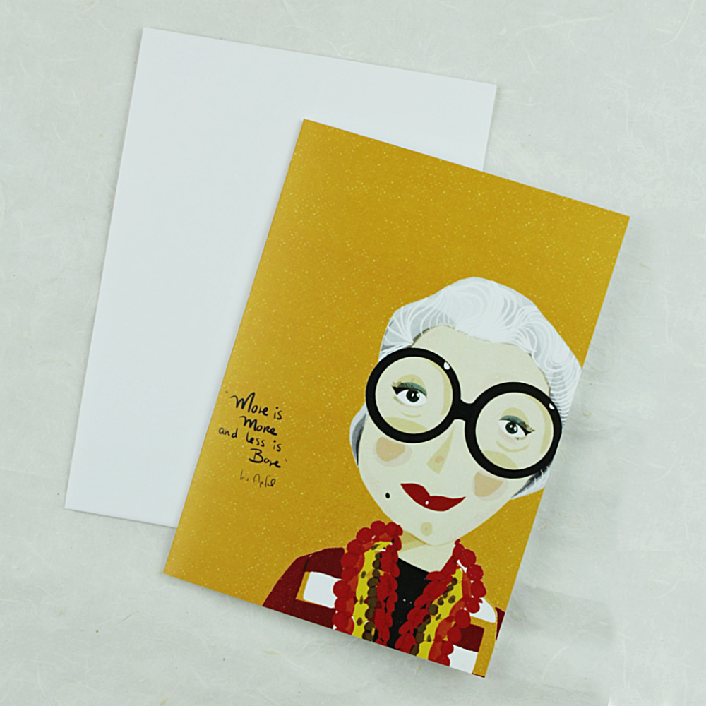 Illustration Card | Iris Apfel - Coco and Duckie