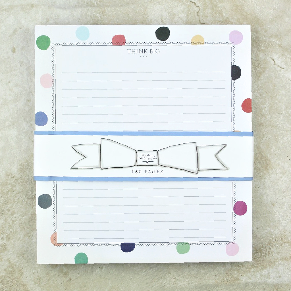 Think Big Notepad - Karen Adams Design - Coco and Duckie