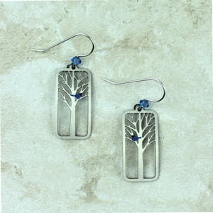 Blue Bird Earrings - Coco and Duckie