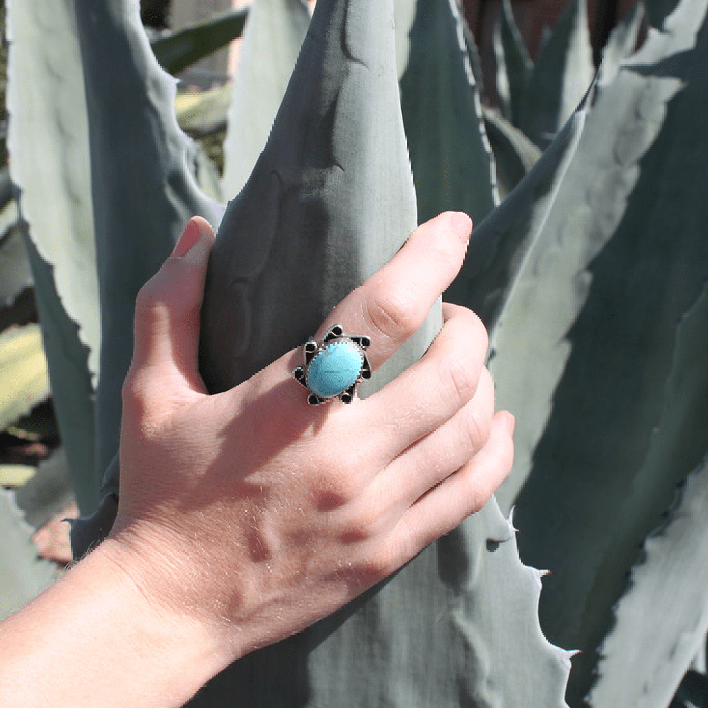Mahala Turquoise Ring - Olivine - Coco and Duckie