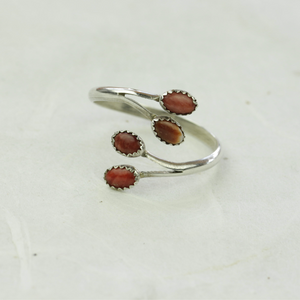 Charity Coral Ring - Coco and Duckie