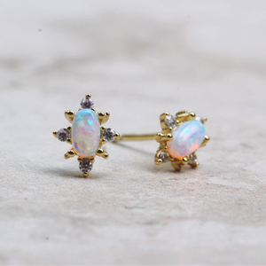 Starburst | Opal Stud Earrings - Coco and Duckie