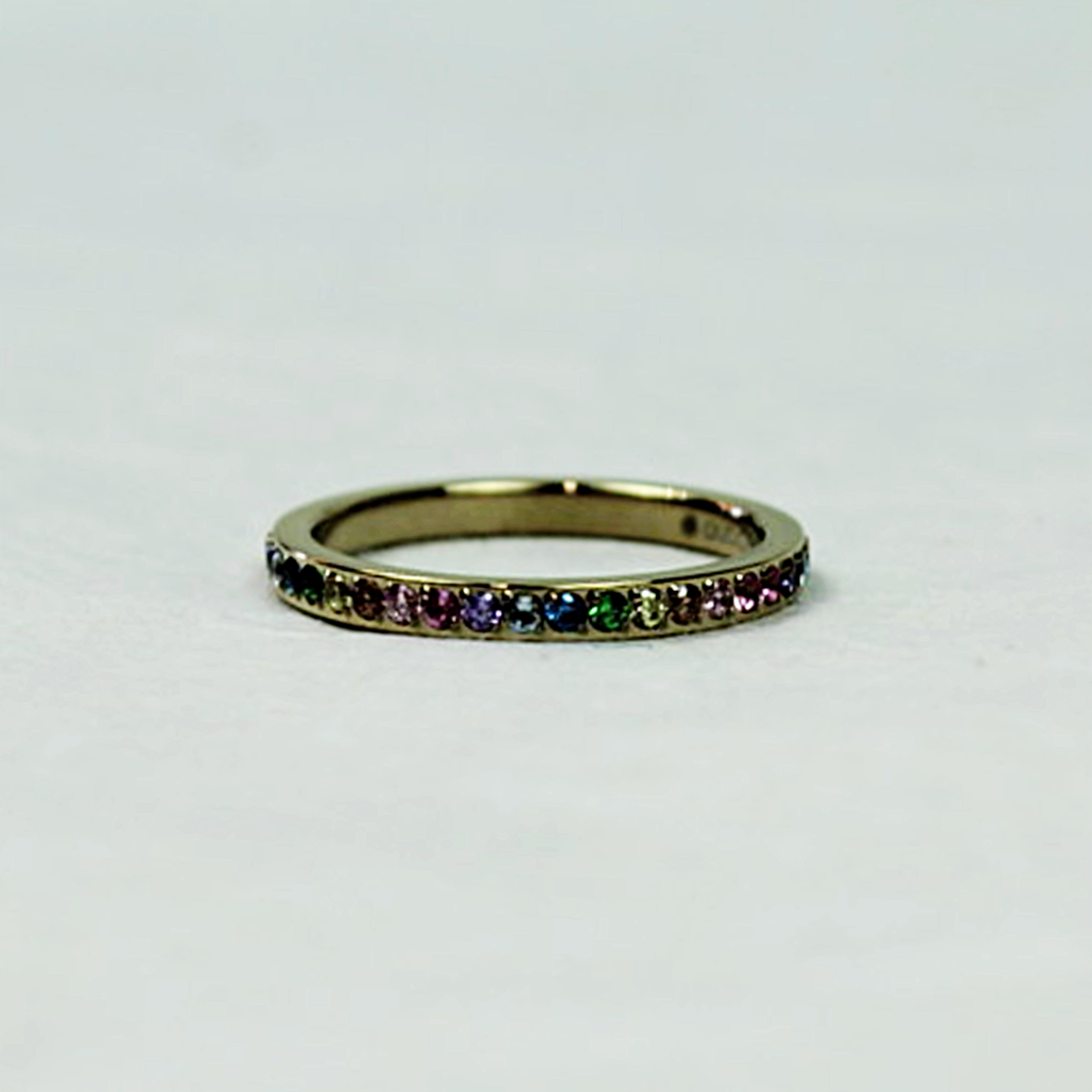 Qudo Eternity Gold Ring | Rainbow - Coco and Duckie