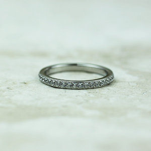 Qudo Eternity Silver Ring | Crystal - Coco and Duckie