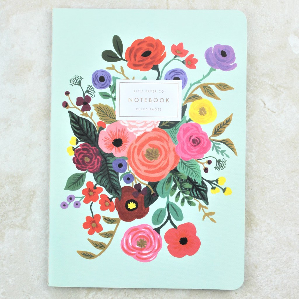 Blue Garden Party Notebook - Rifle Paper Co - Coco and Duckie