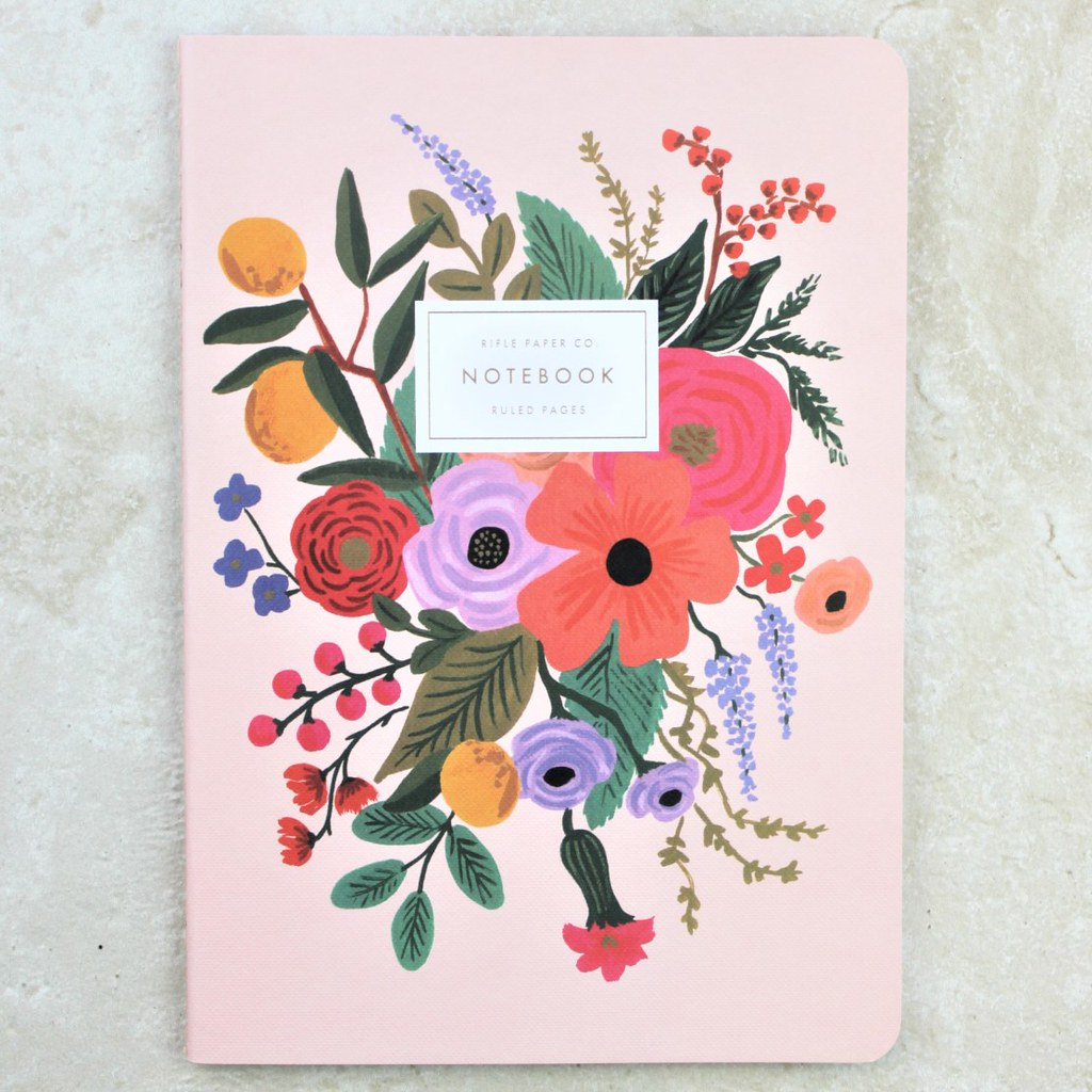 Pink Garden Party Notebook - Rifle Paper Co - Coco and Duckie