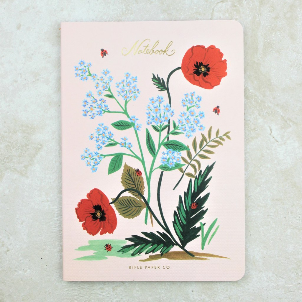 Poppy Botanical Notebook - Rifle Paper Co - Coco and Duckie