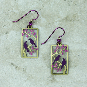 cocoandduckie sienna sky purple martin earrings