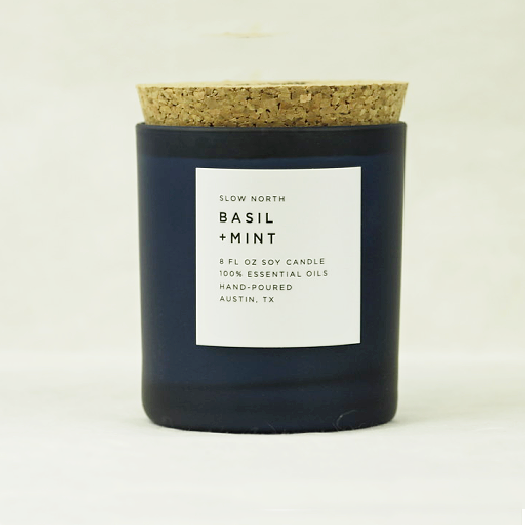 Basil + Mint Candle Coco and Duckie Slow North
