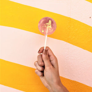 Watercolor Artisan Lollipop with Passion Fruit
