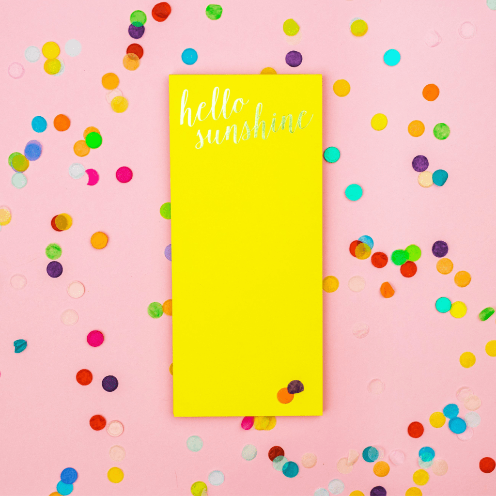 Hello Sunshine Notepad - Taylor Elliott Designs - Coco and Duckie