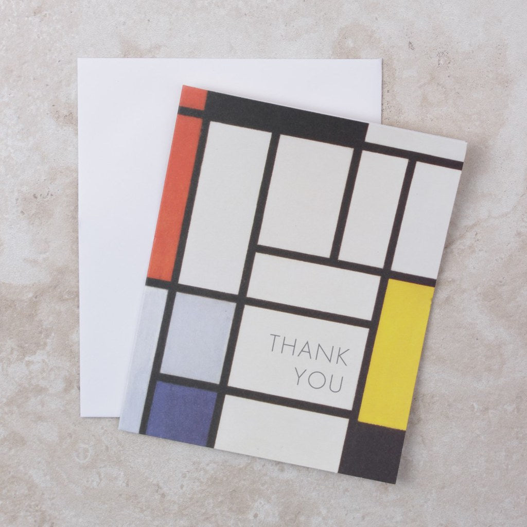Piet Mondrian Thank You Cards - Compendium - Coco and Duckie
