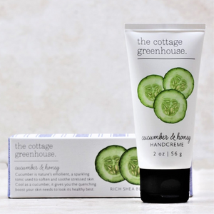 Cucumber & Honey Travel Size Hand Cream | The Cottage Greenhouse - Coco and Duckie