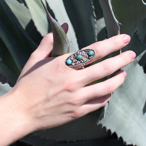Eudora Turquoise Ring - Navajo Artist Made -Coco and Duckie