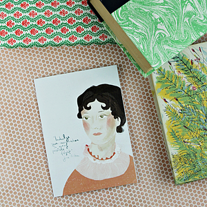 Ilustration Card | Jane Austen - Coco and Duckie