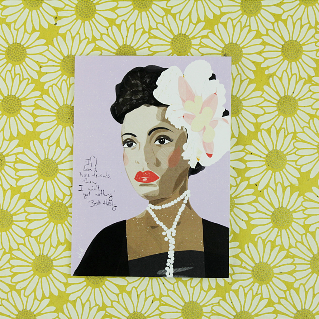 Illustration Card | Billie Holiday - Coco and Duckie