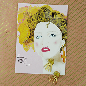 Illustration Card | Madonna - Coco and Duckie