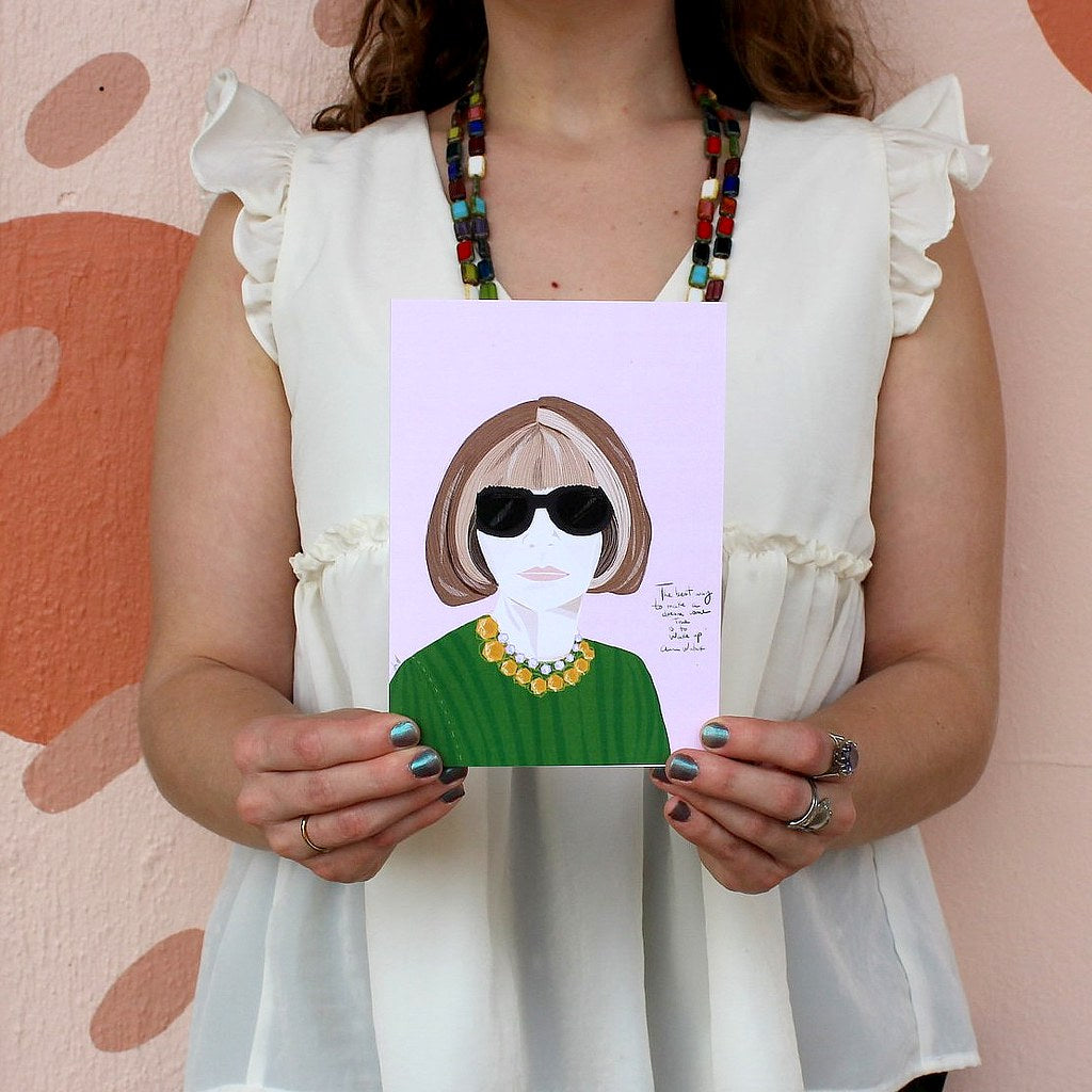Illustration Card | Anna Wintour - Coco and Duckie