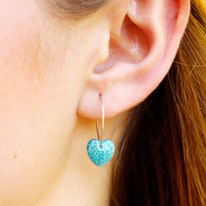 Venus Hoop Earrings | Turquoise Sparkle