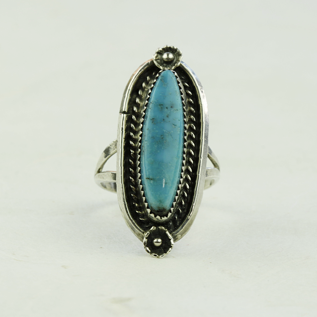 Cora Turquoise Ring - Navajo Artist Made - Coco and Duckie
