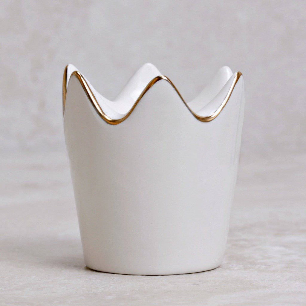 Little Gilded Crown Ring Dish - Creative Co-op - Coco and Duckie