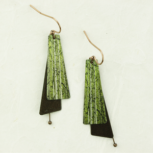 dc illustrated light willow earrings - coco and duckie
