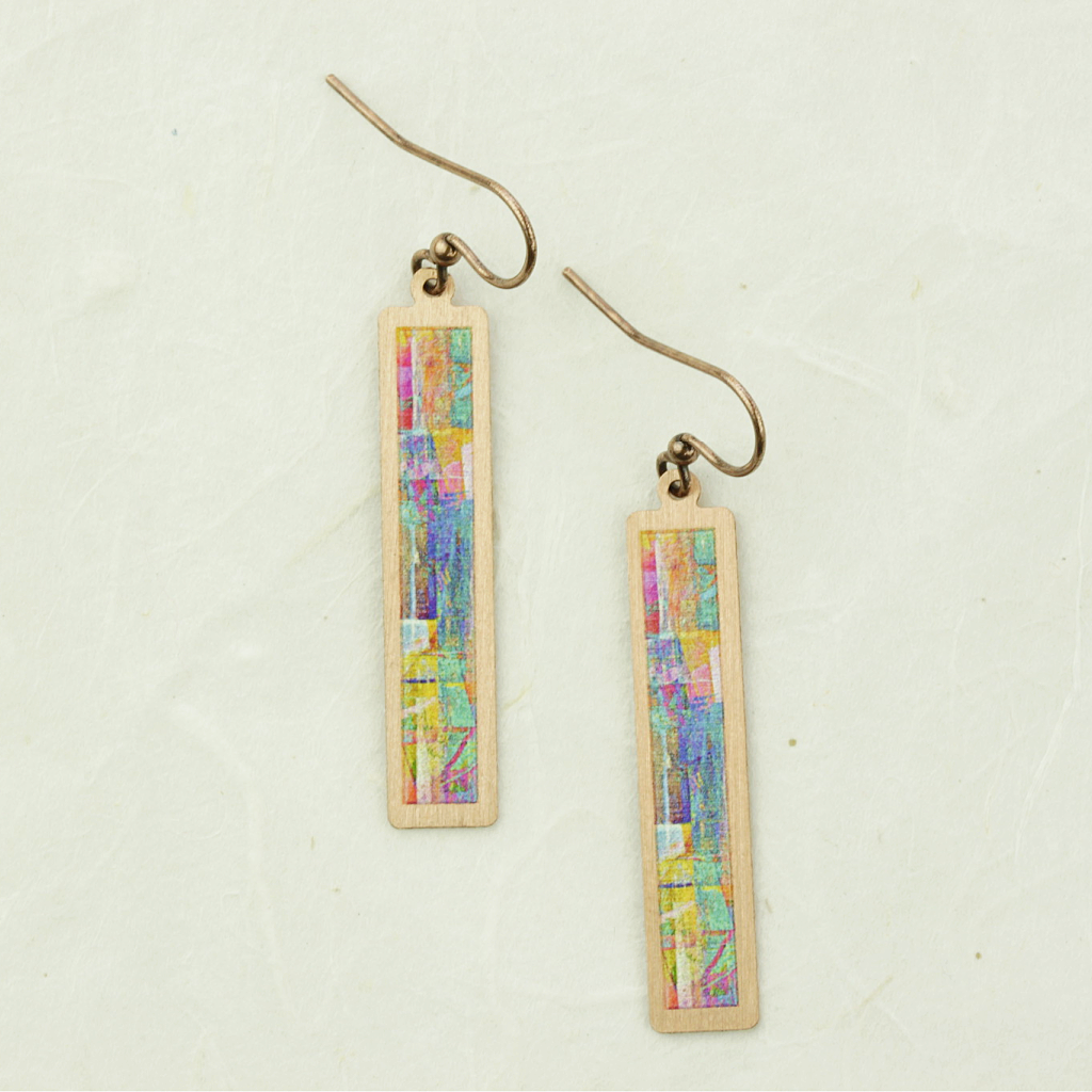 DC Illustrated Light Corinna Earrings - coco and duckie