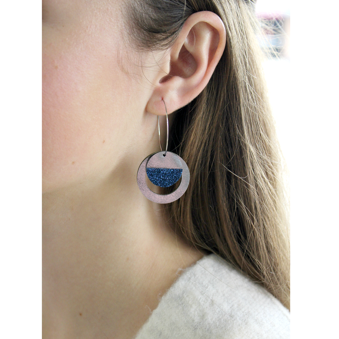 Hoop Earrings | Blue