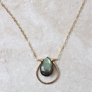 Labradorite Loop Necklace