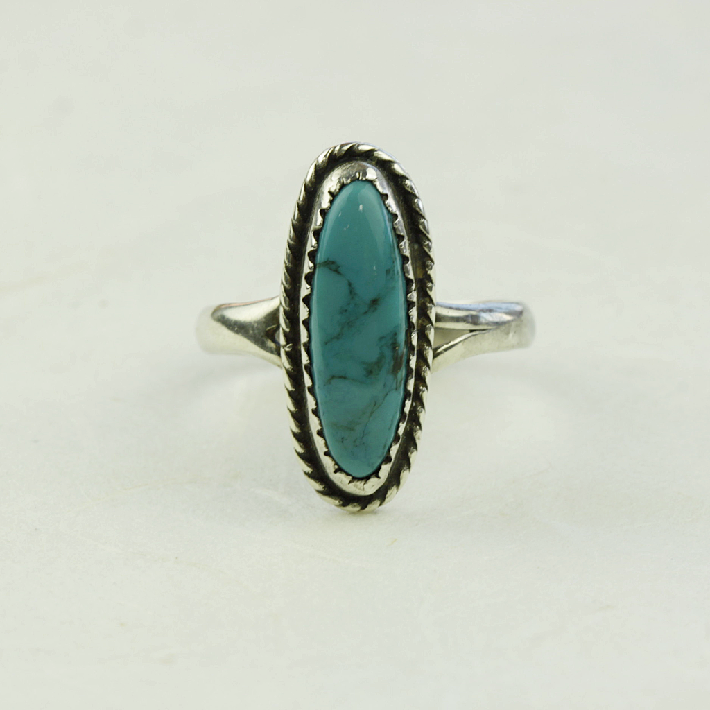Ella Turquoise Ring - Olivine - Coco and Duckie