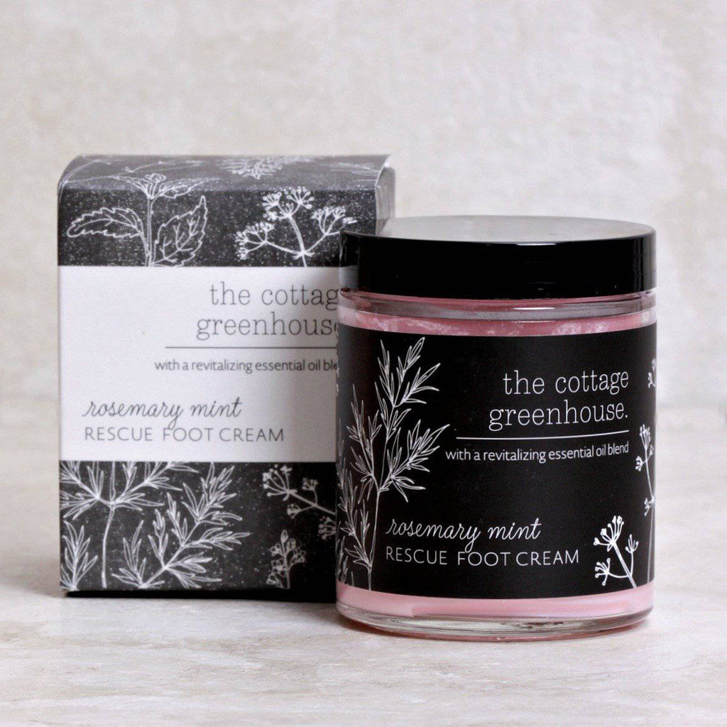 Rosemary Mint Rescue Foot Cream - The Cottage Greenhouse - Coco and Duckie