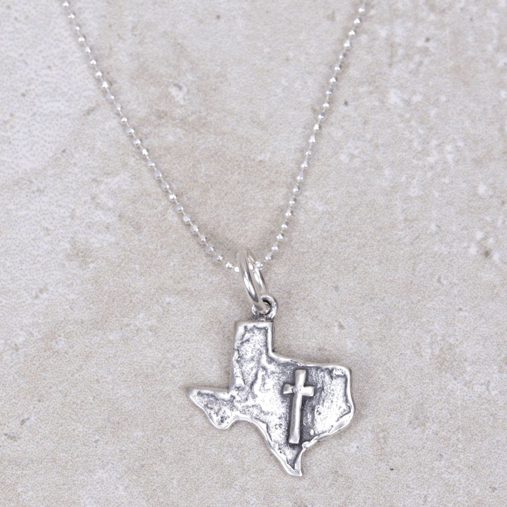 God Bless Texas Charm - Visible Faith Jewelry - Coco and Duckie