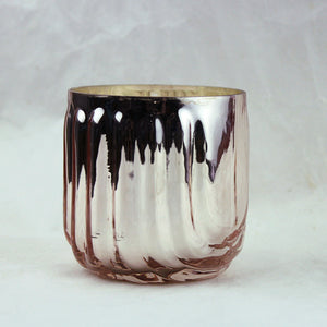 Pink Pine Mercury Glass Candle