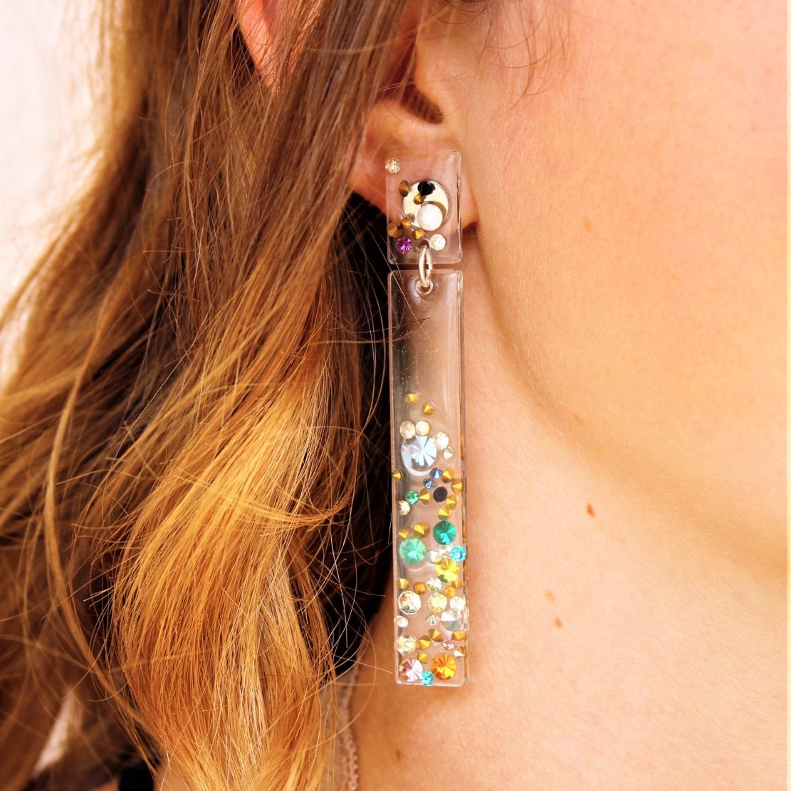 Olivia  Vintage Rhinestone Earrings - Coco and Duckie