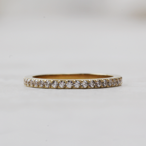 Qudo Eternity Gold Ring | Crystal - Coco and Duckie