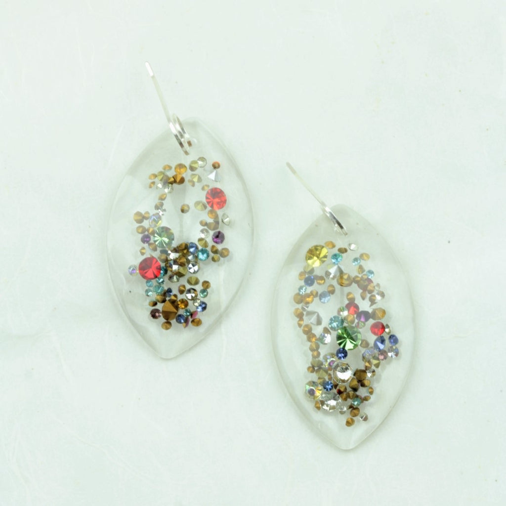 Agnes Vintage Rhinestone Earrings - Coco and Duckie