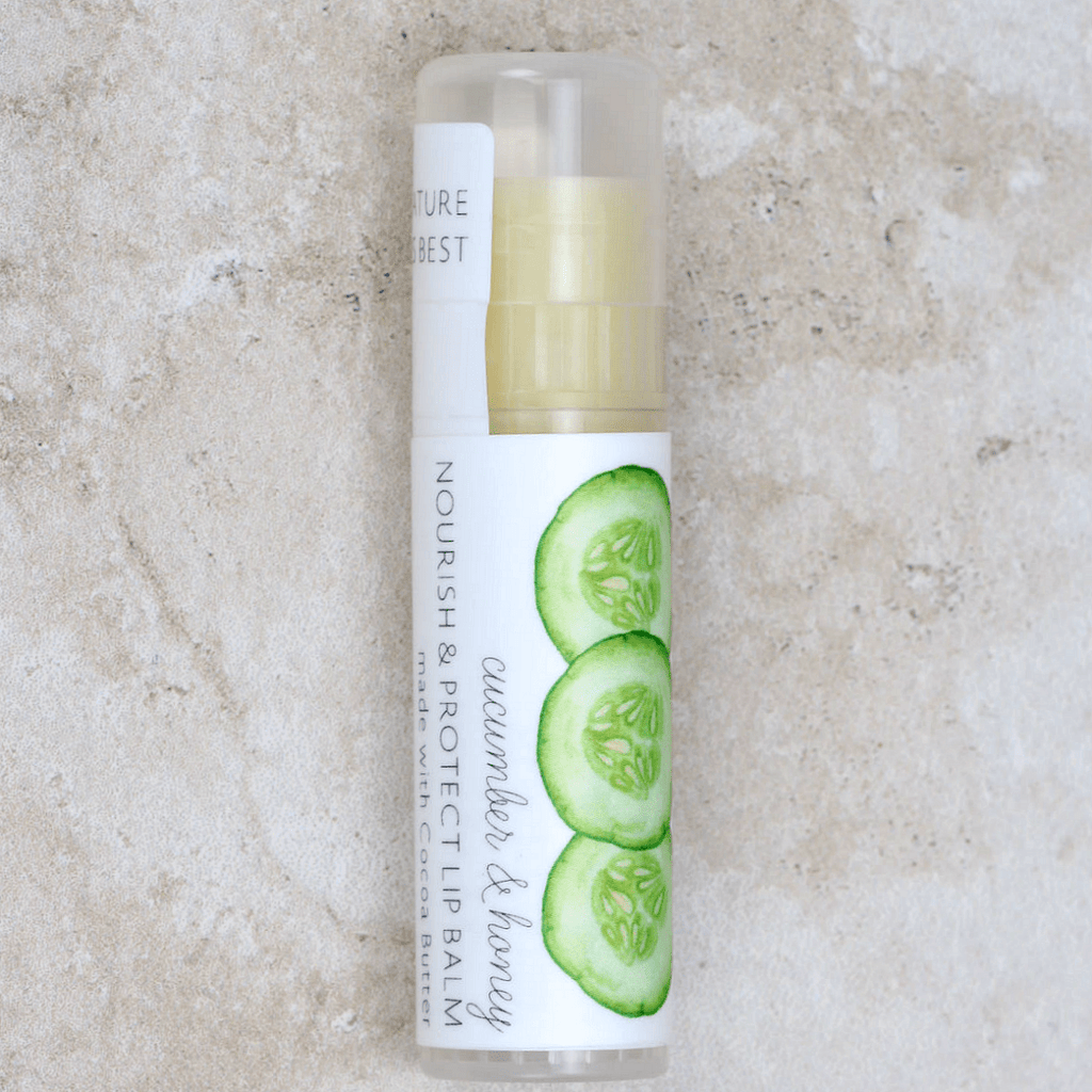 Cucumber & Honey Lip Balm - The Cottage Greenhouse - Coco and Duckie